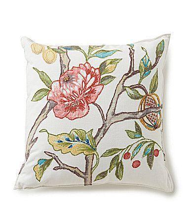 Southern Living FloralEmbroidered Square Pillow Dillards Decor Interesting Dillards Decorative Pillows