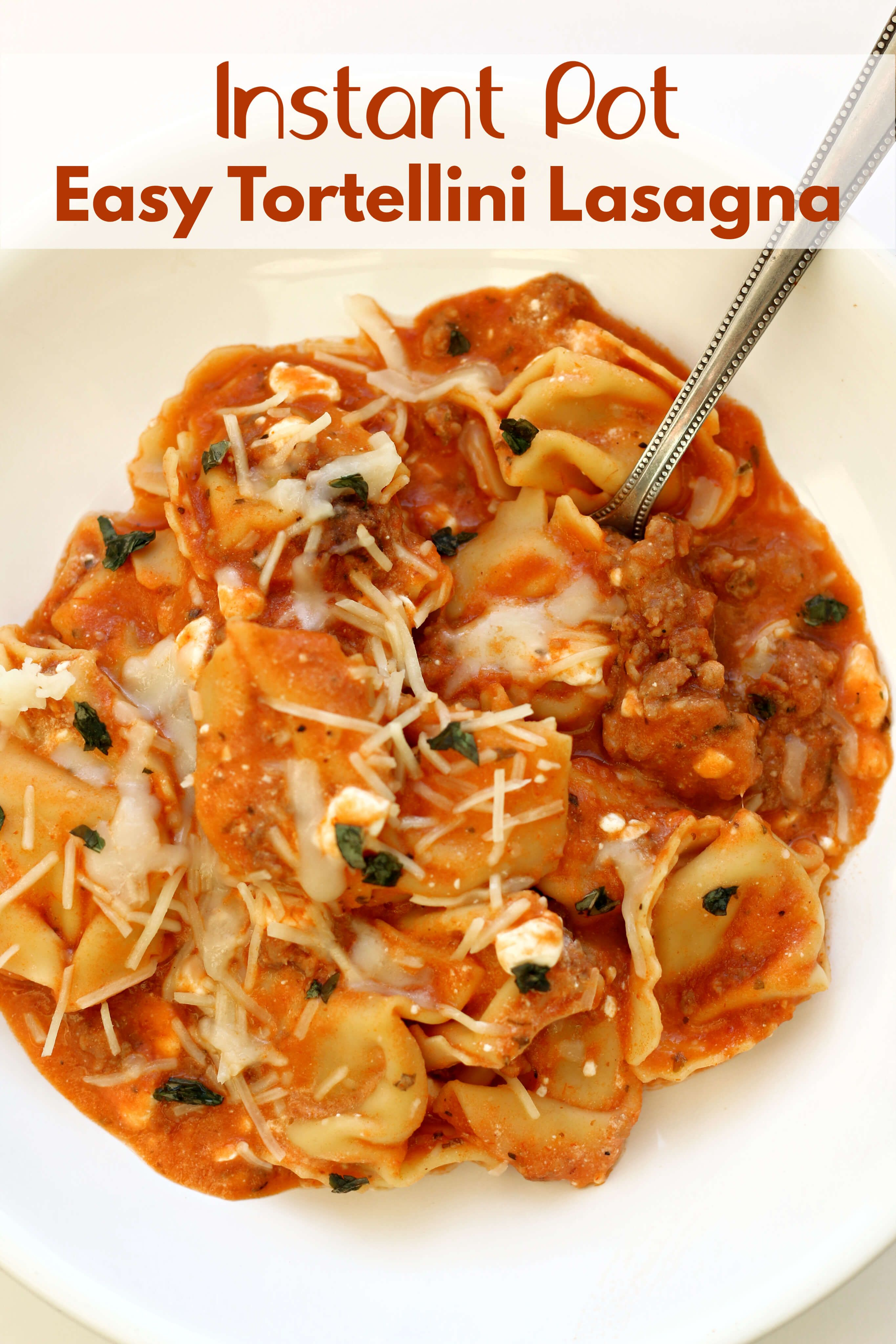 Easy Instant Pot Tortellini Lasagna - 365 Days of Slow Cooking and Pressure Cooking