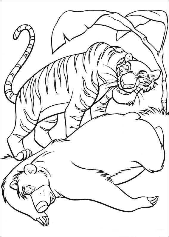 Das Dschungelbuch Ausmalbilder 27 Ausmalen Ausmalbilder Malbuch Vorlagen