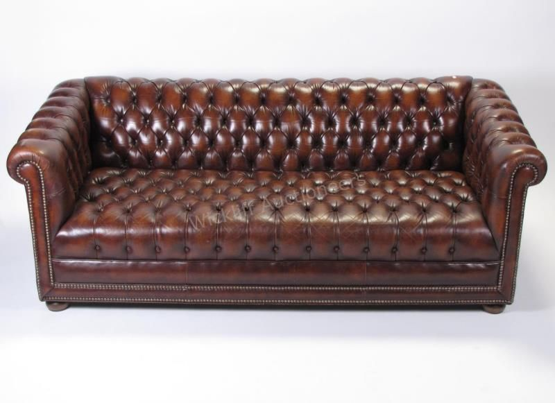Lot 597 Ethan Allen Chesterfield Leather Sofa Leather Chesterfield Sofa Modern Leather Chesterfield Sofa Vintage Chesterfield Sofa