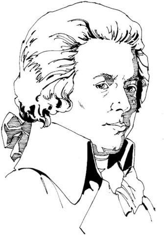 Wolfgang Amadeus Mozart Coloring Page Muzik Sinifi Muzik