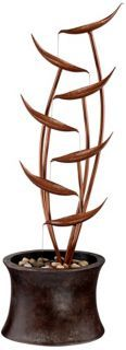 Tiered Copper Leaves Indoor Outdoor Fountain - DecoratorFountains.com