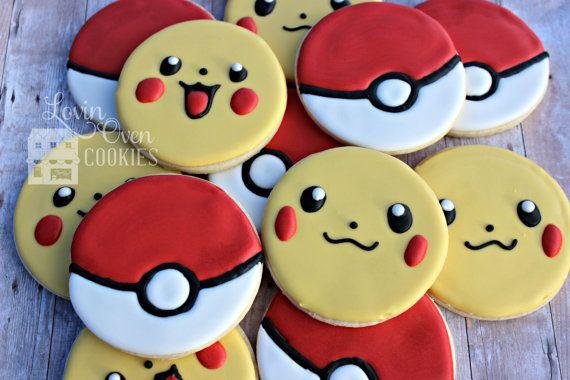 Pokemon Decorated Sugar Cookies  Birthday by LovinOvenCookies