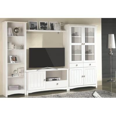 Mueble Rustico Salon Blanco En 2020 Muebles Salon Blanco Muebles Salon Y Muebles