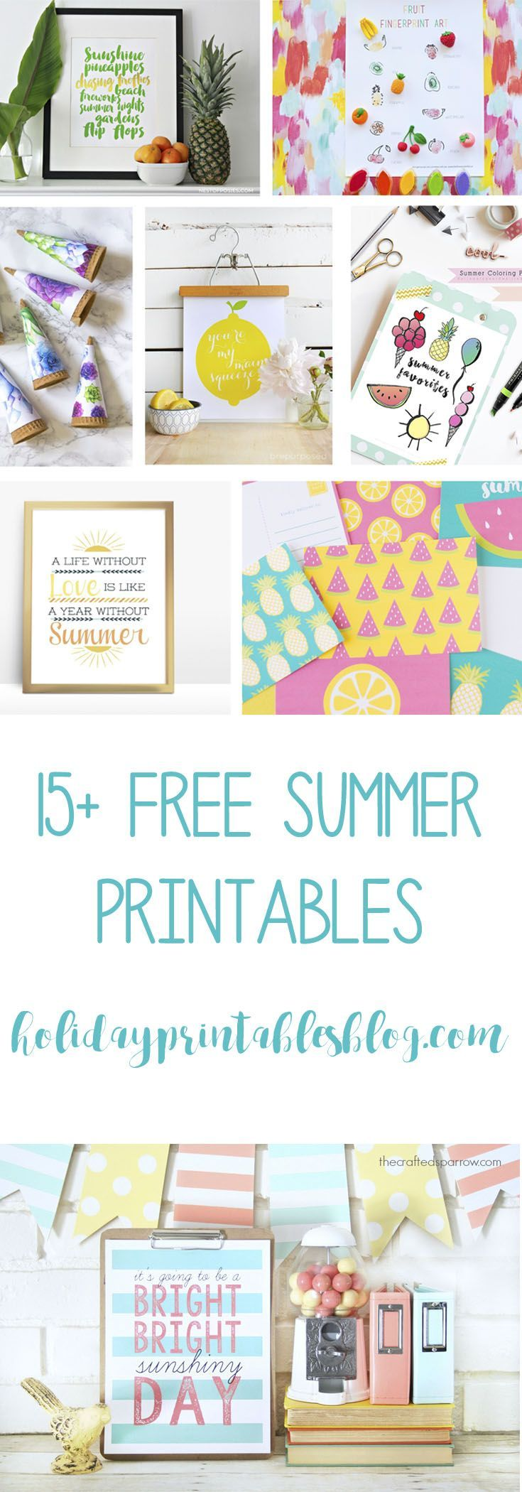 Some of my favorite summer printable artall in one post lots of