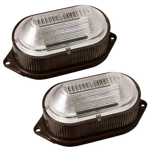 Portfolio Brown Solar Ed Led Deck And Stair Lights 2 Pack