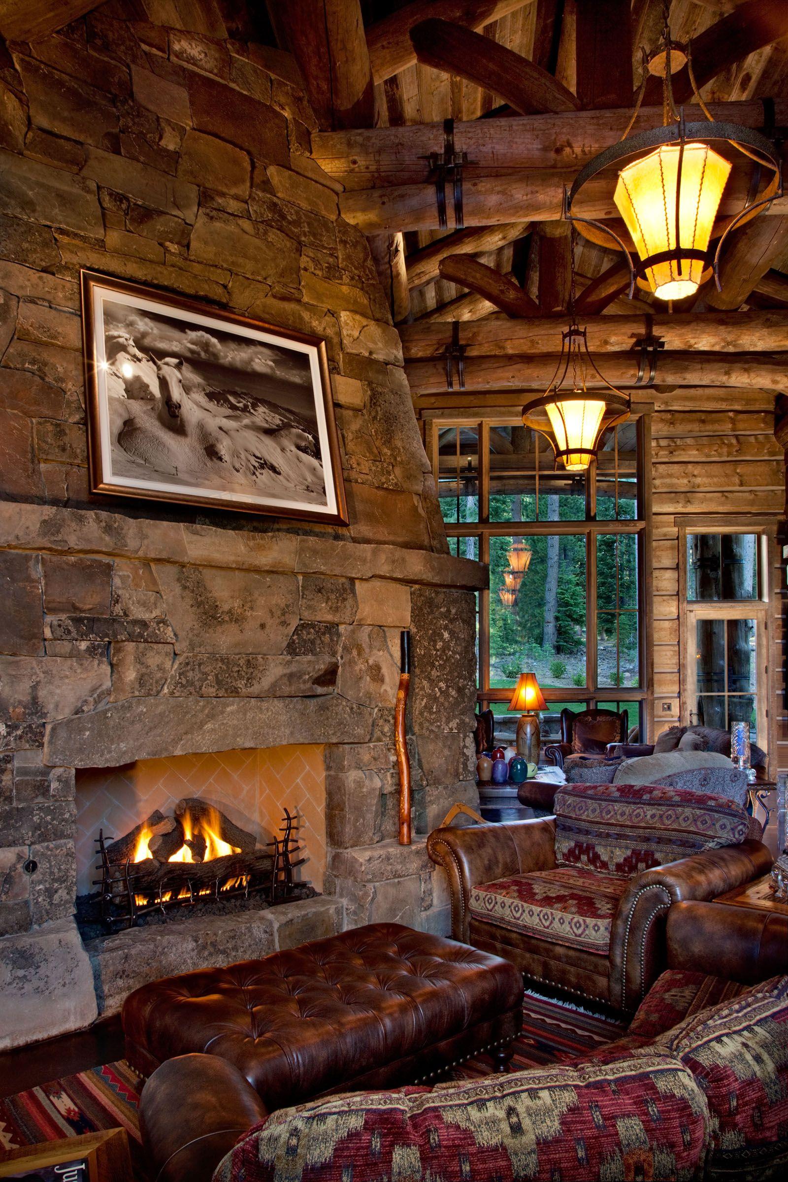 Modern Take On A Log Cabin Custom Built By Nsm