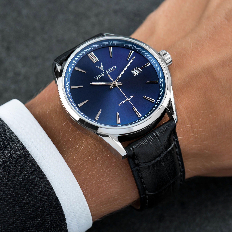 Men S Dress Watch Blue And Black Vincero Collective Watchmen Watches For Men Mens Dress Watches Blue Watches [ 2480 x 2480 Pixel ]