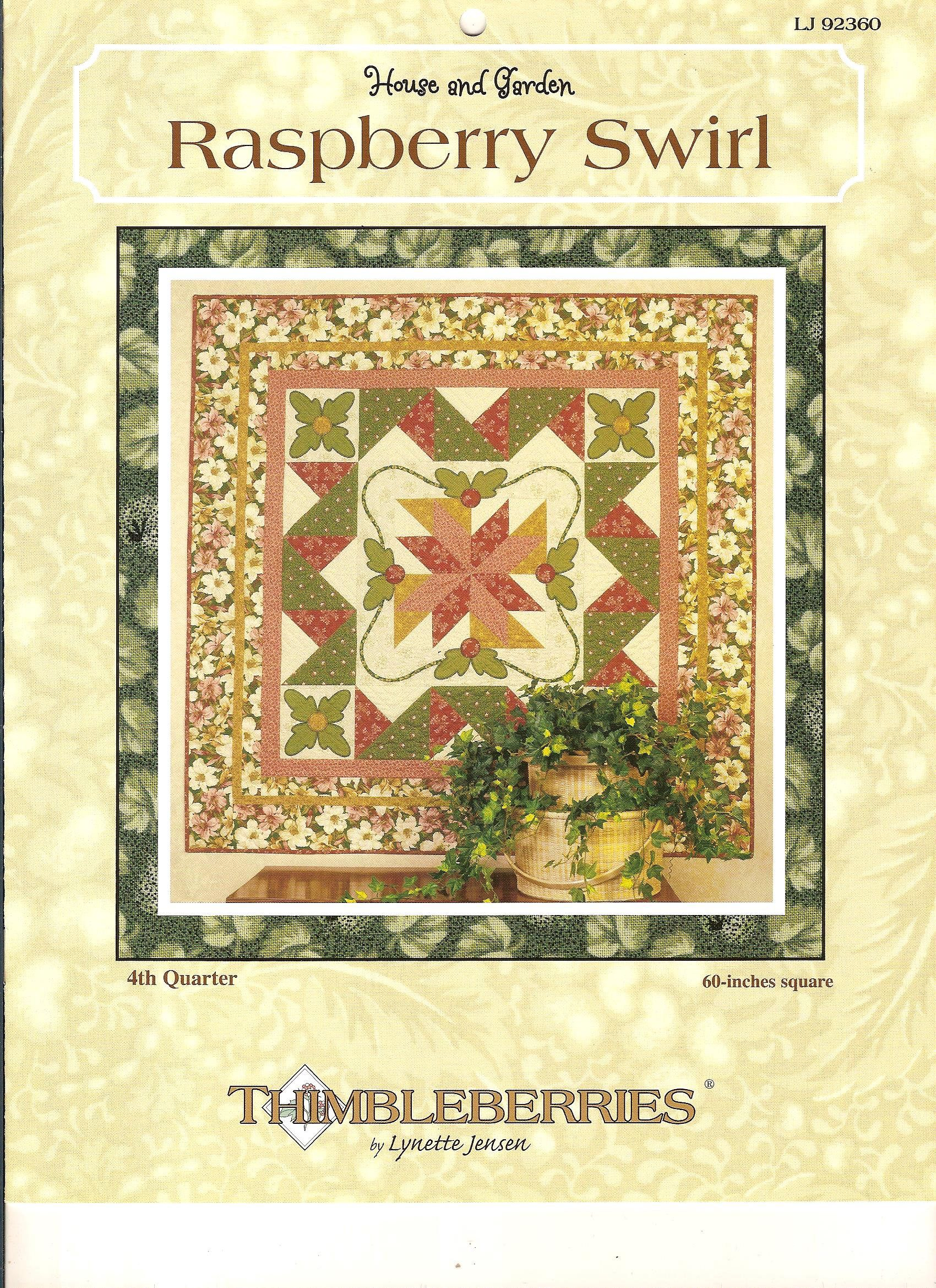 Thimbleberries Raspberry Swirl Pattern Booklet / Wall Quilt by ...