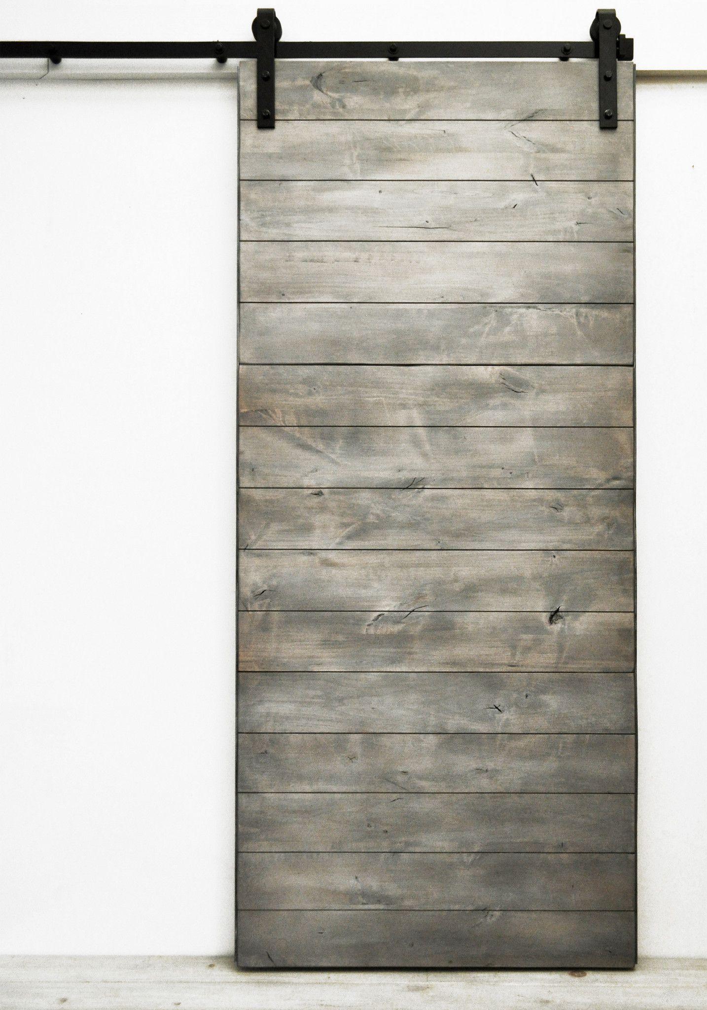 Sliding Barn Door, Solid Wood, Latitude, Silverwood, Hardware Included