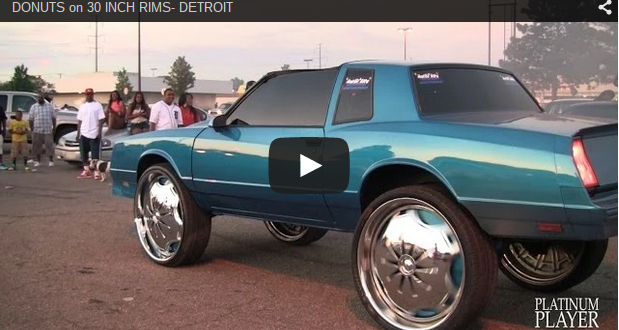 Donuts On 30 Inch Rims Detroit Custom Wheels