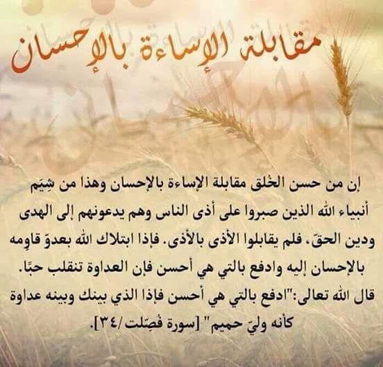 مقابلة الإساءة بالإحسان Words Calligraphy Arabic Calligraphy