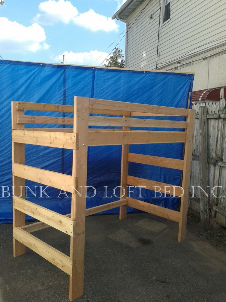 Extra Heavy Duty Queen Size Loft Bed With 1000 Lbs Weight Capacity Home Garden Furniture Beds Mattresses Ebay