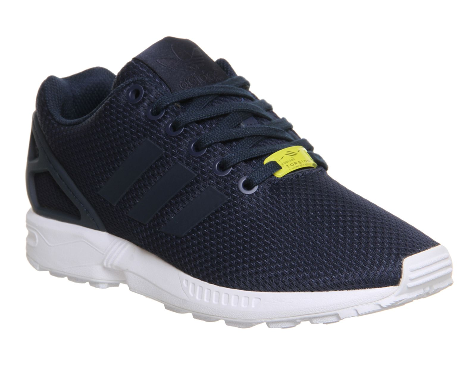 mens adidas navy zx flux weave trainers