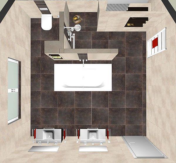 bad gestalten ideen   Bad neu gestalten, Badezimmer gestalten, Badezimmer grundriss