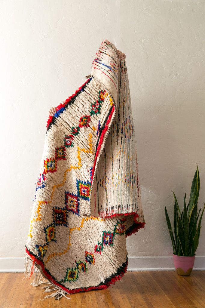 BASIC INSTINCTS vintage berber carpet from the azilal or boucherite region of morocco. Simple + lovely.
