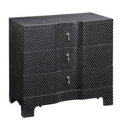 Gail's Accents Modern 3 Drawer Side Chest