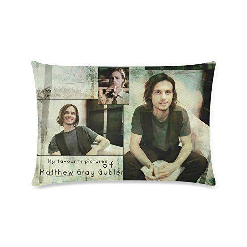 Design Pillowcase Rectangle: Custom Matthew Gray Gubler 2 Pillowcase Rectangle Zippered Two    ,
