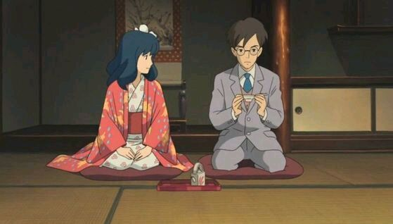 "Naoko and Jiro's traditional wedding ceremony - ""The Wind Rises"" (2013)"