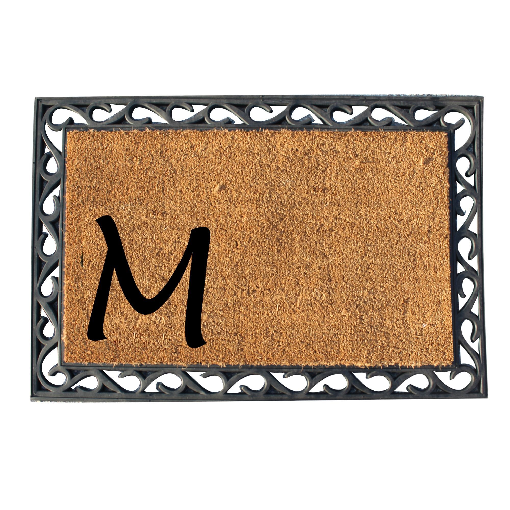 Ahc first impression beigeblack rubber tray mat with monogrammed