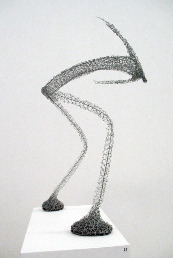 Seeing these wire sculptures makes me want to step up my swinging ...