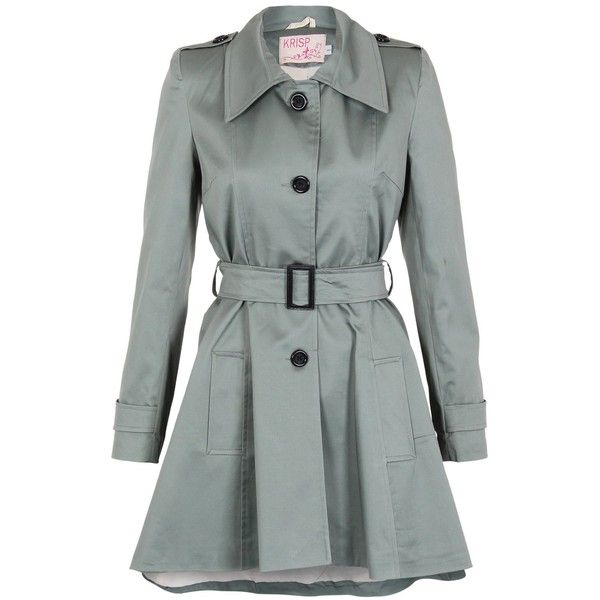 KRISP Womens Double Breasted Belted Trench Rain Coats Short Mac ...