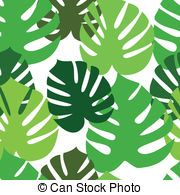 Monstera floral leaves pattern