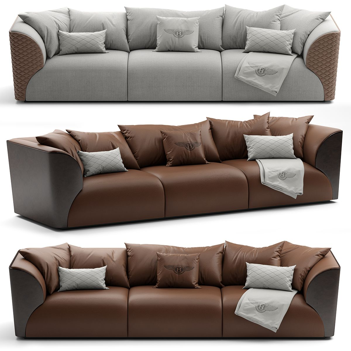 Best 3D Model Bentley Home Winston Sofa 155 Free Download 400 x 300