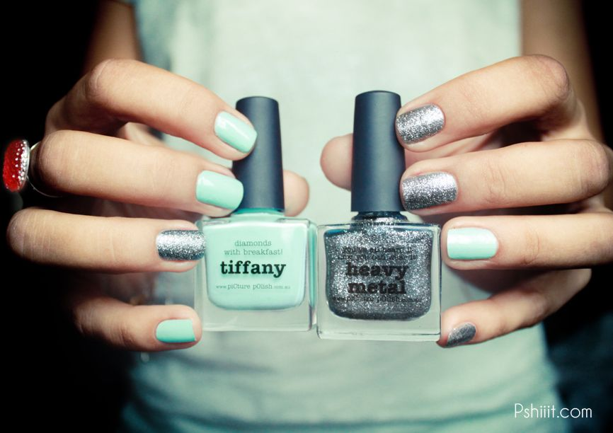 Tiffany & Heavy Metal by @piCture pOlish | My Style | Pinterest ...