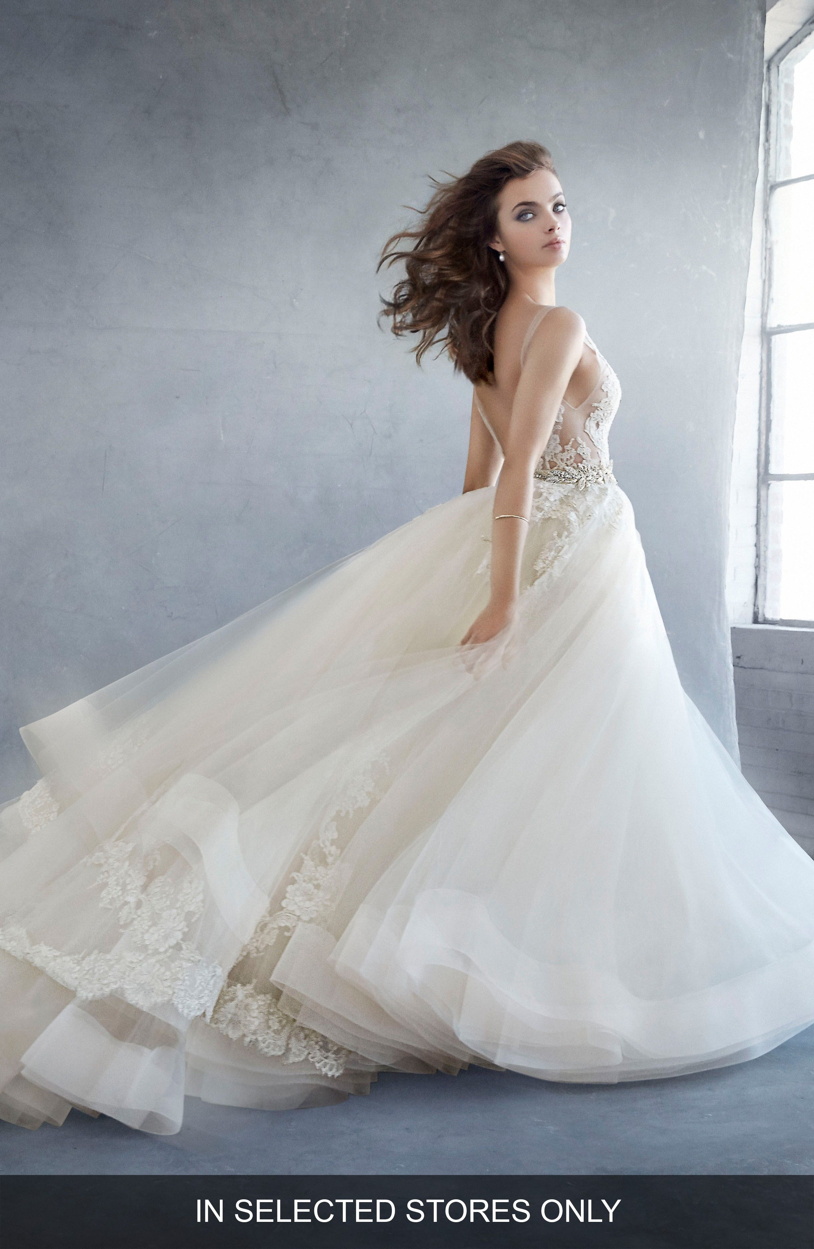 Beaded Lace & Tulle Ballgown LAZARO at Nordstrom (affiliate link ...