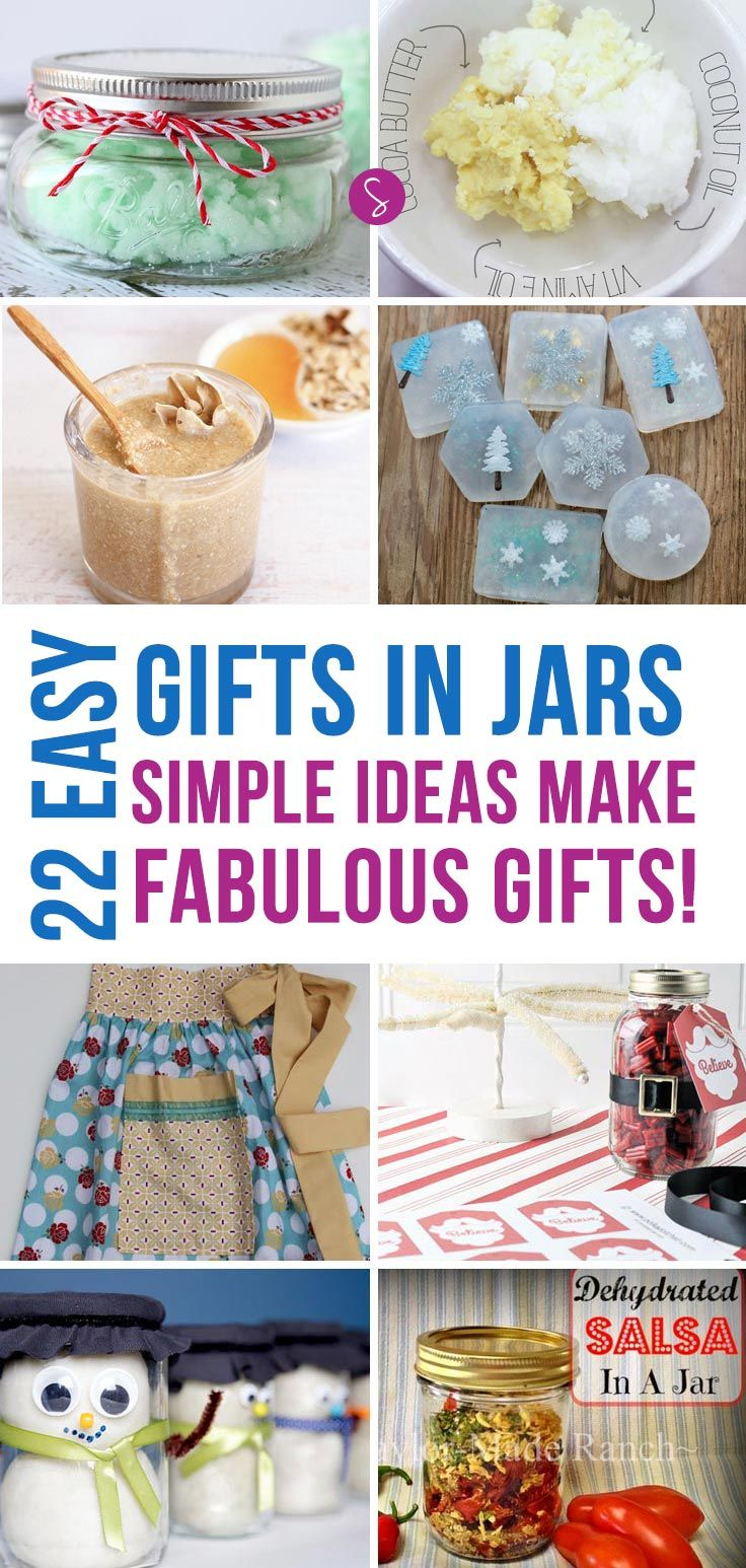 Frugal christmas gifts in a jar