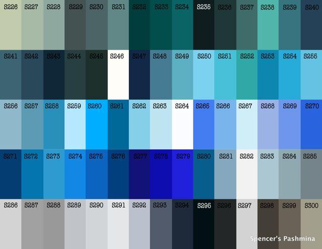 blues for mama | fw 2017 colors trend | pinterest | colour chart
