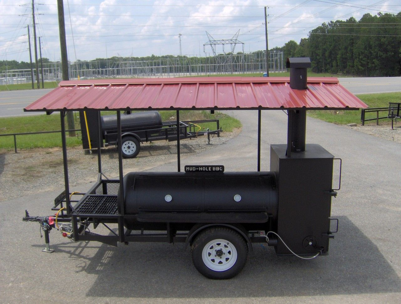 250 gal grill with canopy rib box, fish fryer and storage