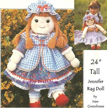 Free Rag Doll Sewing Patterns Images - origami instructions easy for ...