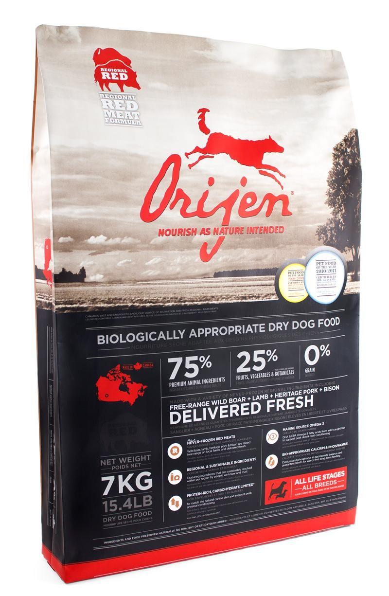 Orijen, a grain and glutenfree food that utilizes