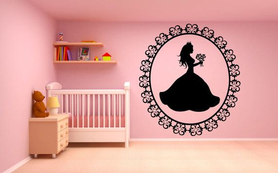 Wall Room Decor Art Vinyl Sticker Mural Decal Pattern Flower Sweet Pretty Interior Nursery Girl Kids Pictures Crown Princess Queen New F2147