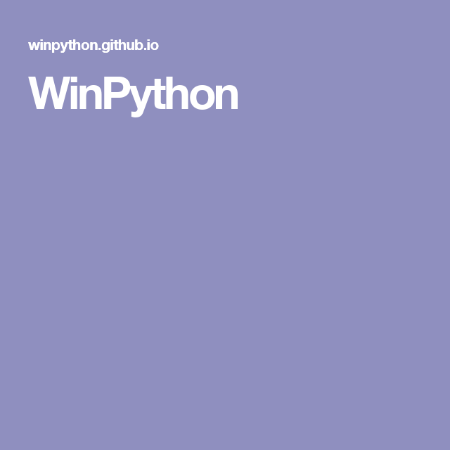 Winpython Python Programming Computer Programming Learn To Code