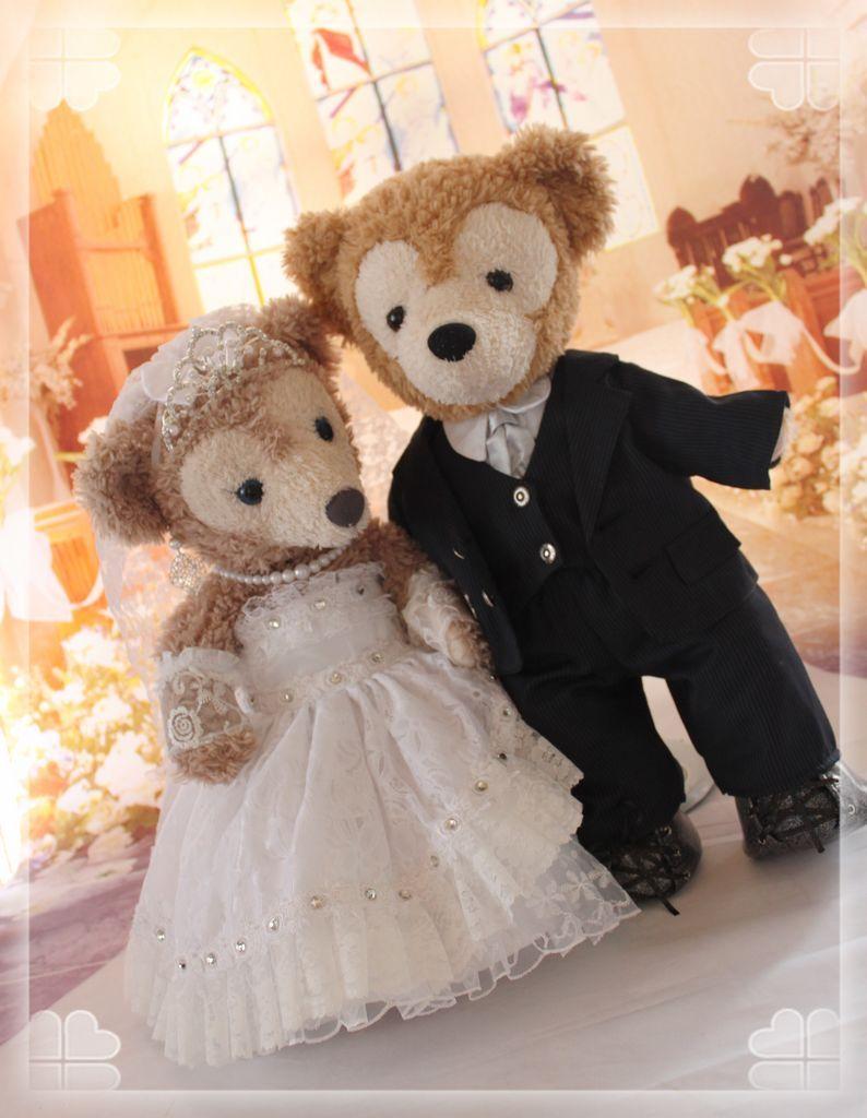 Wedding Groom Duffy  Bride Shellie May #Duffy #ShellieMay #DuffyTheDisneyBear #DisneyBearCousins #DisneyWeddings