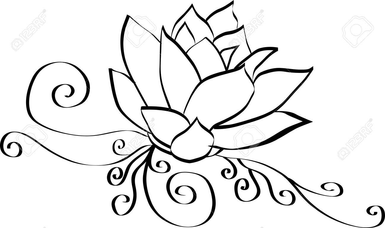 Stock Vector Flower Outline Flower Wallpaper Free Art