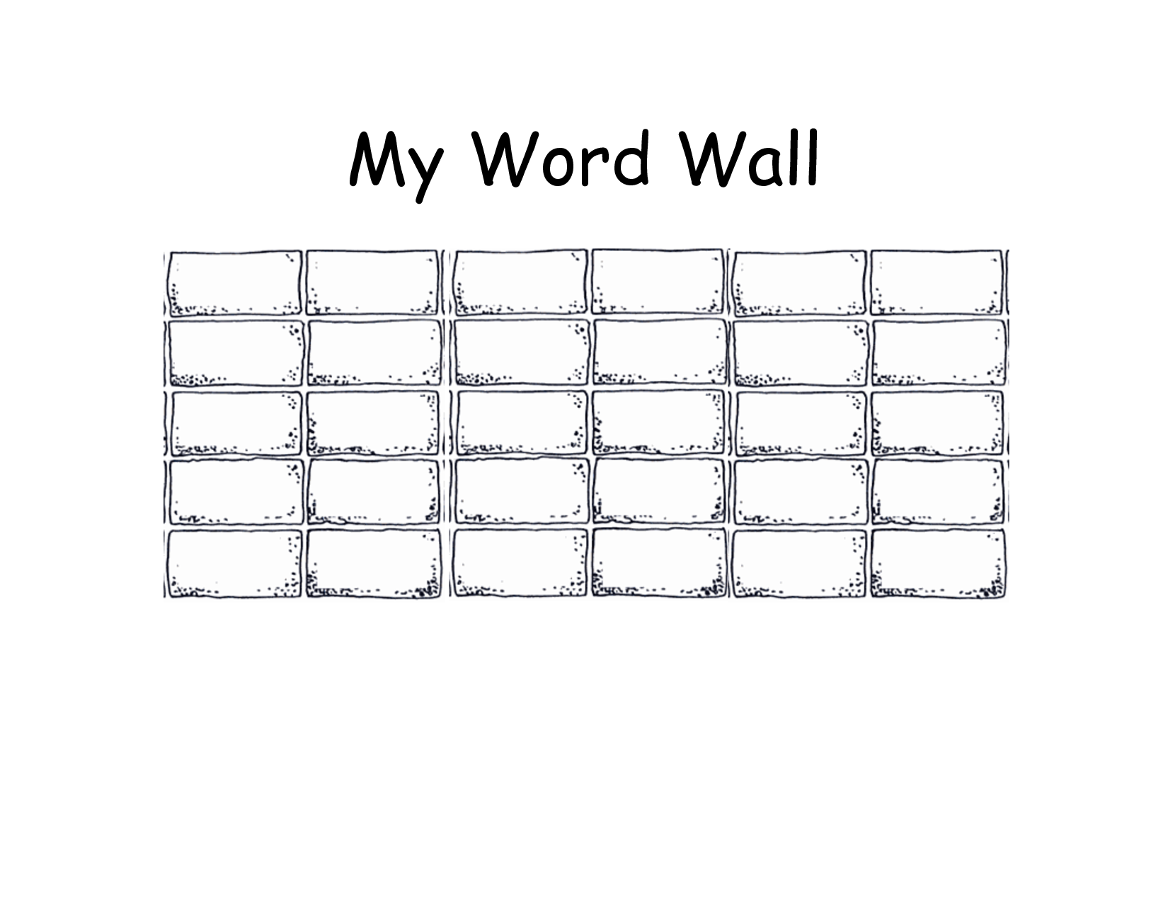 Blank Printable Word Wall Templates