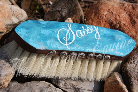Paint this customized with your horse's name.. Never loose a brush!