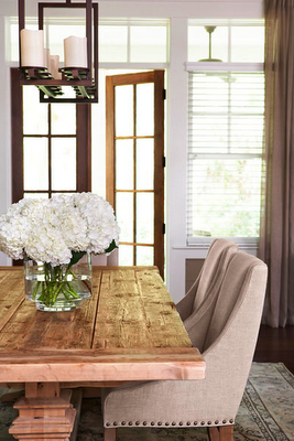 Thank you @Taylor-Mary Smith for posting - love, love, love this - hydrangeas, candles, wood table, white, light...must...have...this...