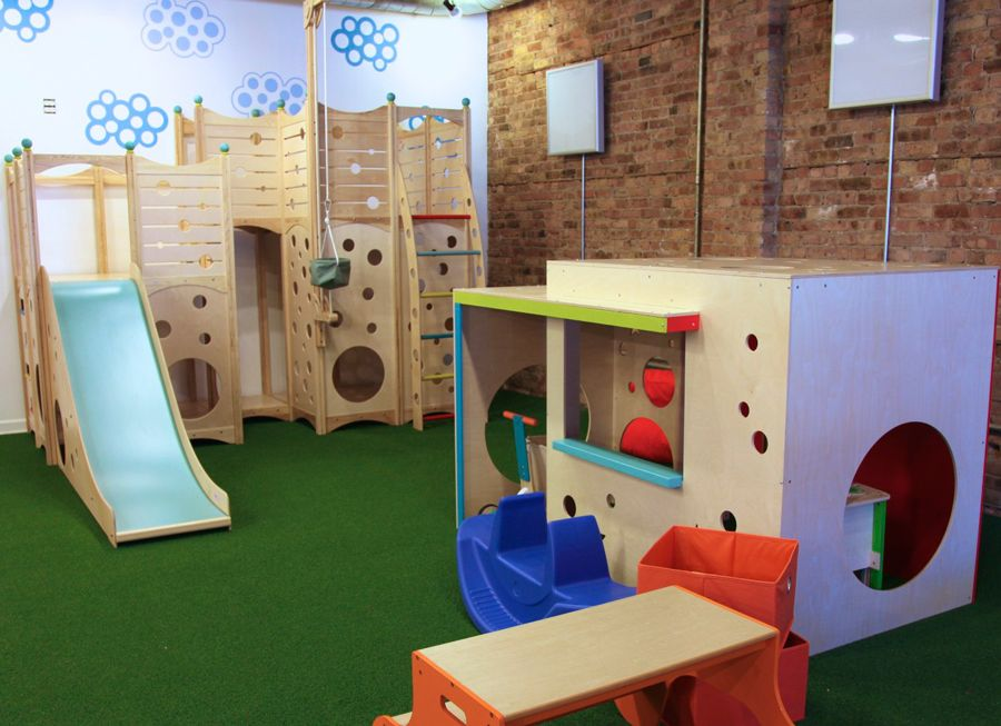 play space at kookaburra play cafe in Chicago Kids cafe