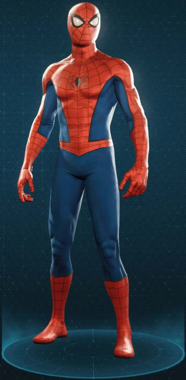 Classic Suit Spiderman Marvel Spiderman Spiderman Ps4