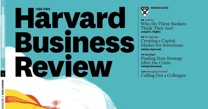 Harvard Business Review Under Direction From De Luxe  Associates
