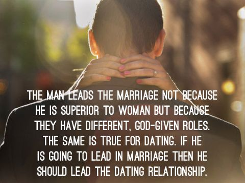 Roles in a christian dating