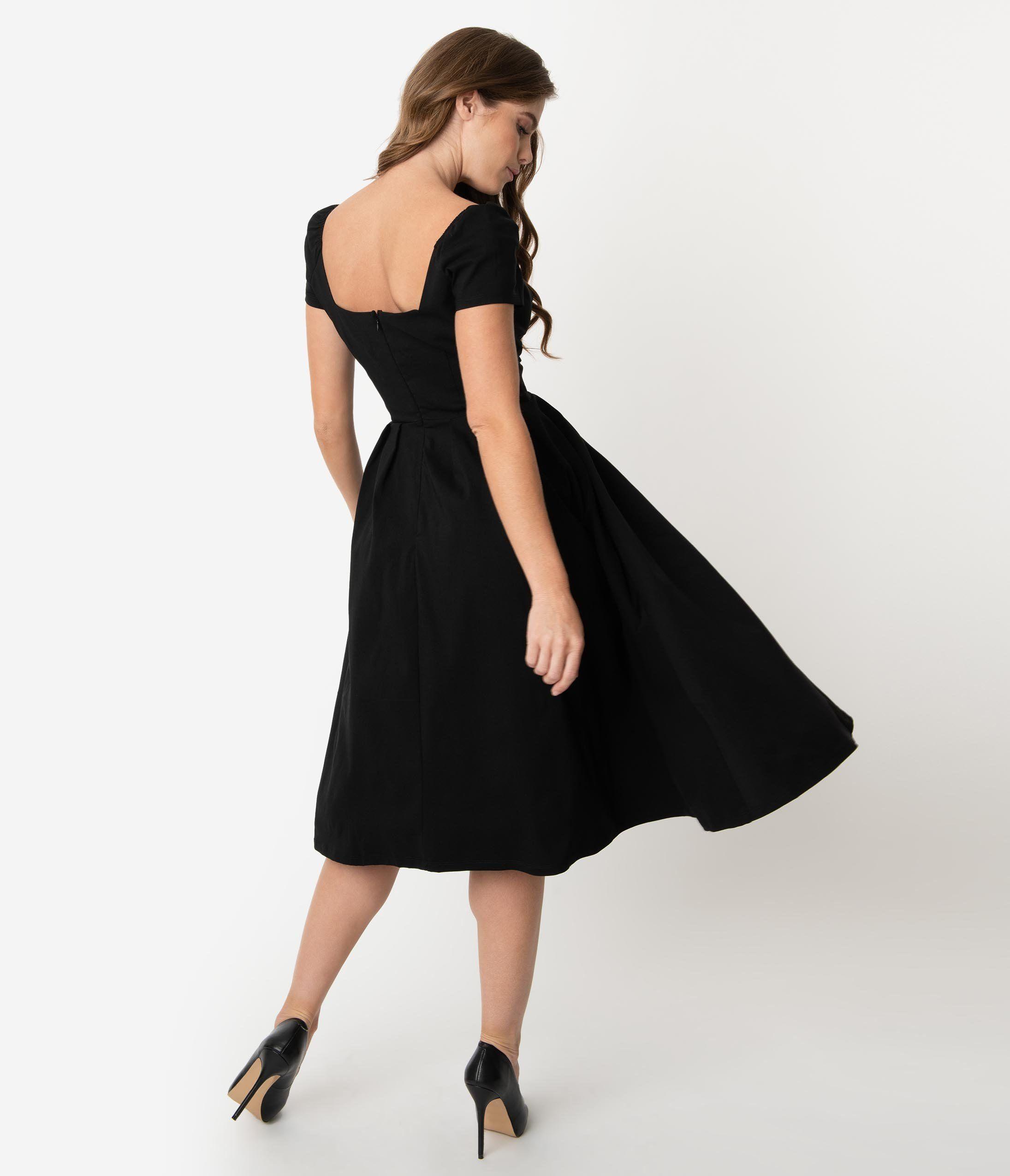 Unique Vintage 1950s Black Sweetheart Midge Swing Dress In 2021 Swing Dress Vintage Dresses Online Vintage Inspired Dresses [ 2550 x 2190 Pixel ]