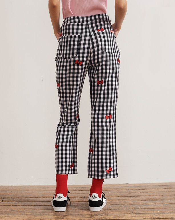 a917d379c Hello Kitty x Lazy Oaf Bow Gingham Trousers | Lazy Oaf x Hello Kitty ...