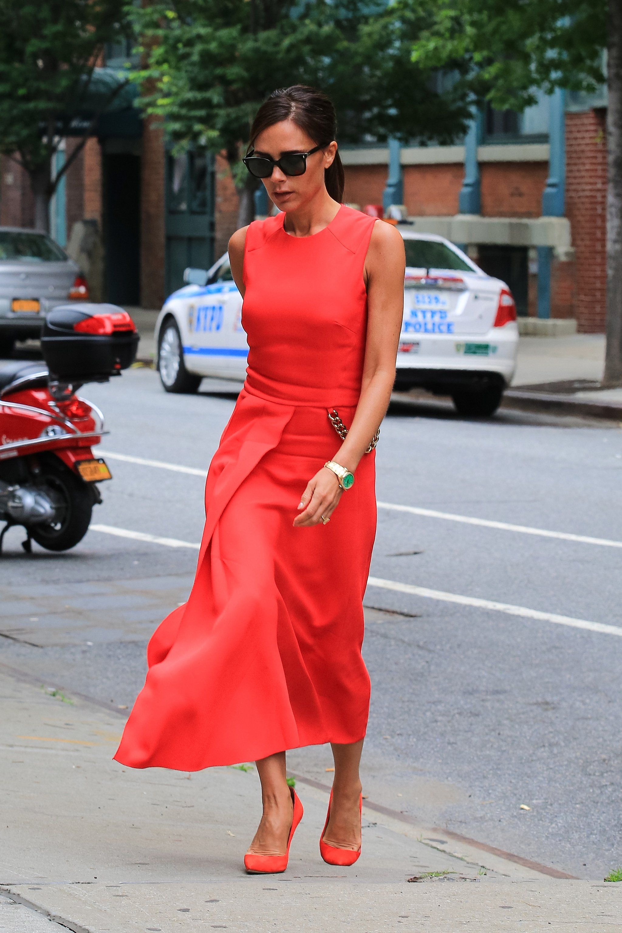 18 Times Victoria Beckham Wore Colour And Nailed It