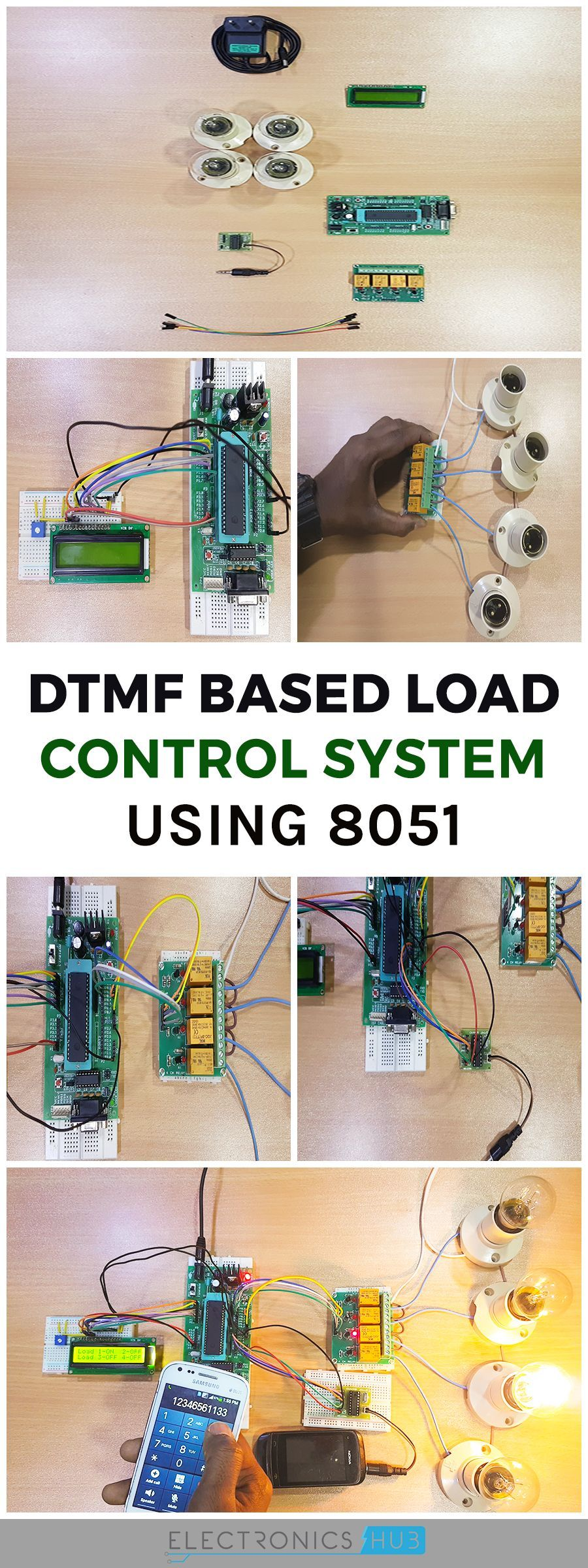 Dtmf Based Home Automation System Using Microcontroller Password Door Locking Circuit Diagram 8051